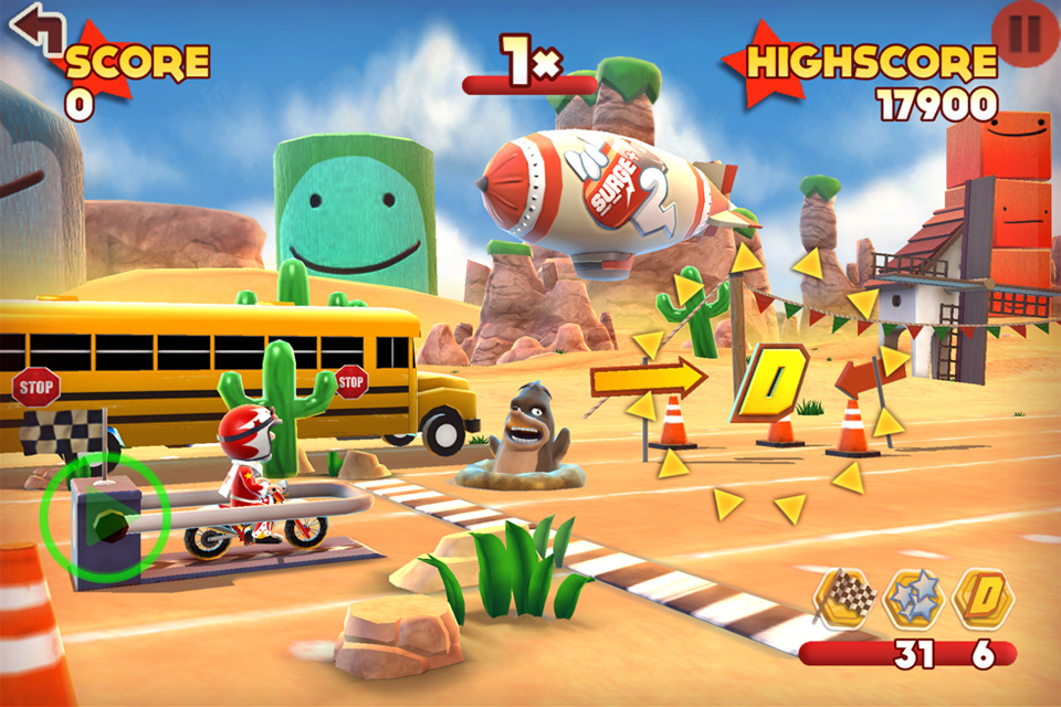 Joe Danger Touch (iPhone) – just think Lance Murdock from The Simpsons
