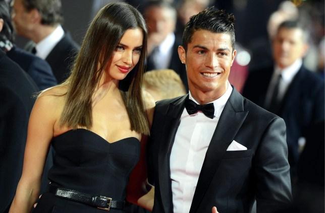 Real Madrid striker Cristiano Ronaldo and his girlfriend Irina Shayk on the red carpet (EPA)