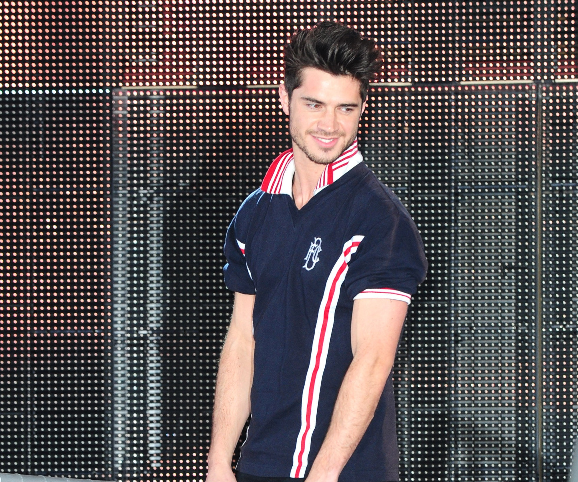 Sam Robertson leaves the Celebrity Big Brother house  (PA)