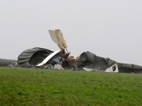 Wind turbine topples over in gale force gusts