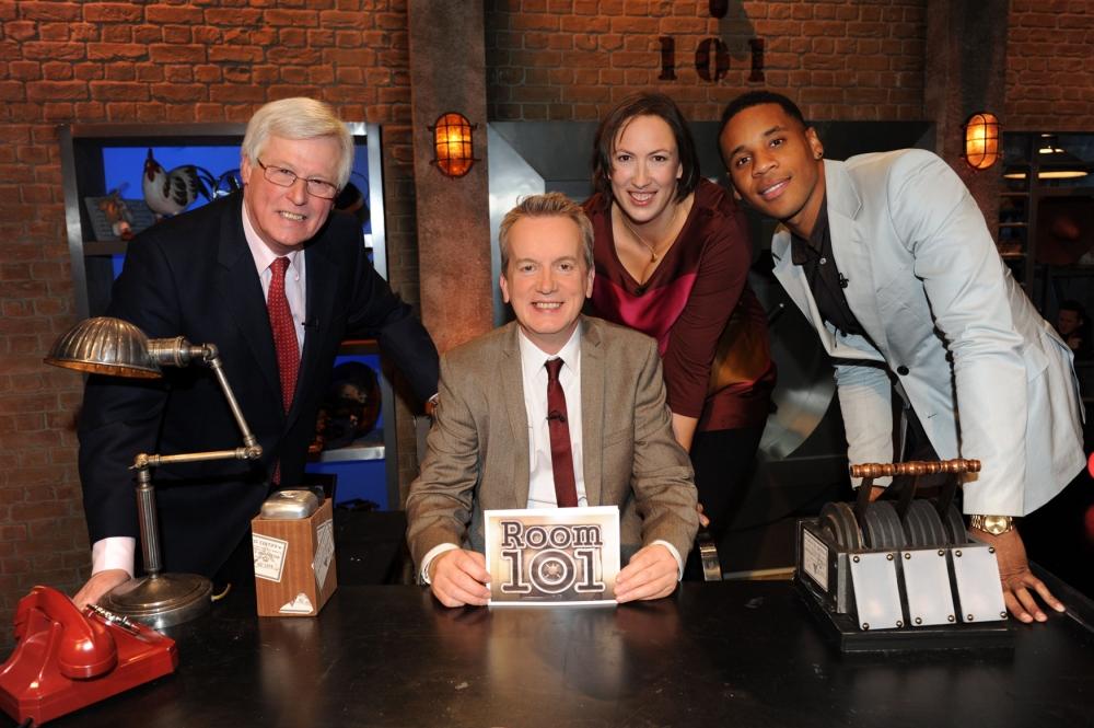 Miranda joins Frank Skinner on Room 101 (Picture: BBC)