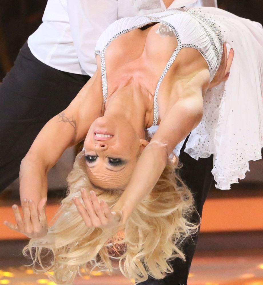 Pamela Anderson voted off Dancing On Ice after boobs fall out of dress