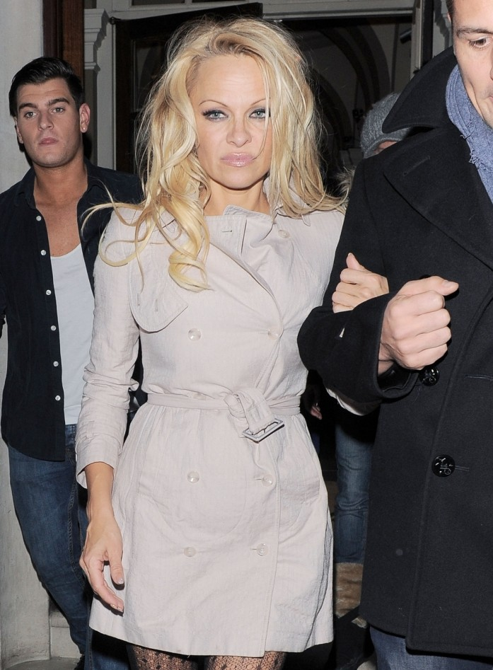 Pamela Anderson worse for wear on London night out as it emerges she bagged £1,000 per second on Dancing On Ice