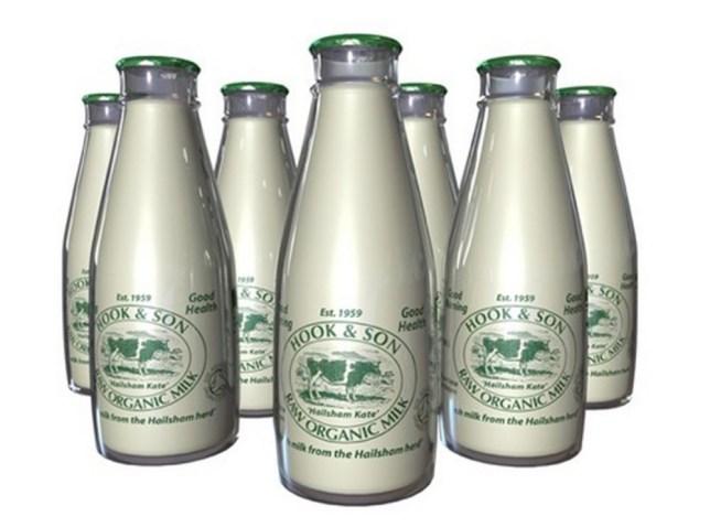 unpasteurised milk bottles