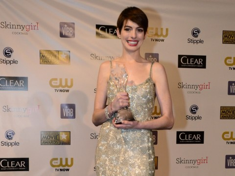 Anne Hathaway admits emotional reaction to Oscar as she wins at Critics Choice Awards