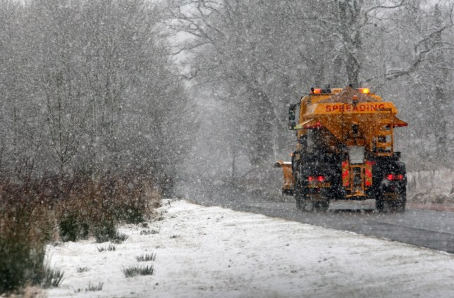 The snow is expected to cause rush hour chaos