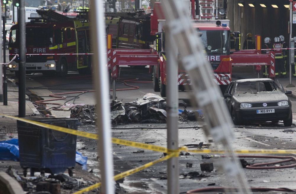 Vauxhall helicopter crash: Eyewitness accounts