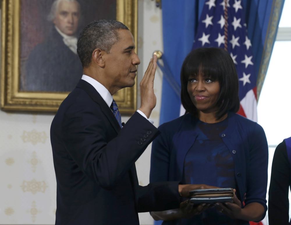 Barack Obama sworn in for second four-year term as US president