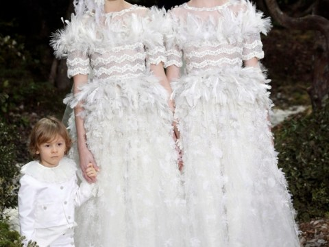 'Lesbian brides' on the catwalk for Karl Lagerfeld in support of gay marriage
