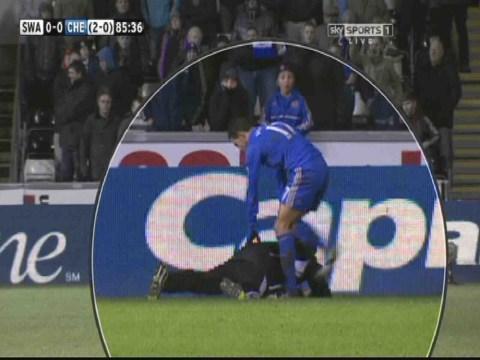 WATCH: Eden Hazard kicks Swansea ball boy