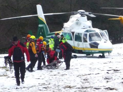 Canoeist dies and 11 hurt in motorway crash as snow thaws and heavy rain falls
