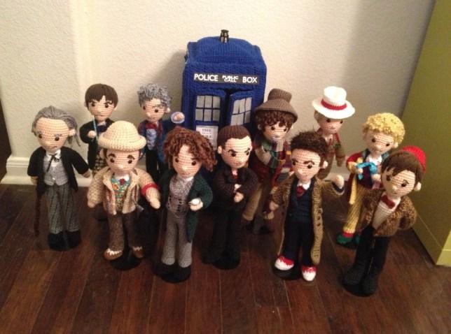 Doctor Who crochet models