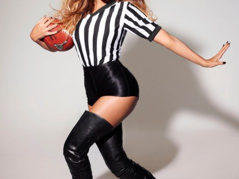 Beyoncé dresses up as sexy referee and tackles diva claims