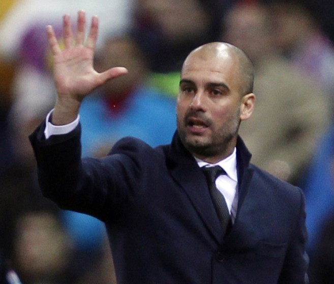 Pep Guardiola has admitted his desire to manage in England (Picture: Reuters)