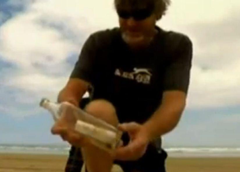 Message in a bottle, Geoff Flood