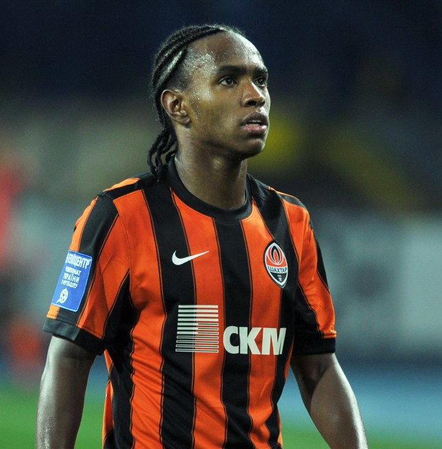 Willian of Shakhtar Donetsk in action during the Russian Premier