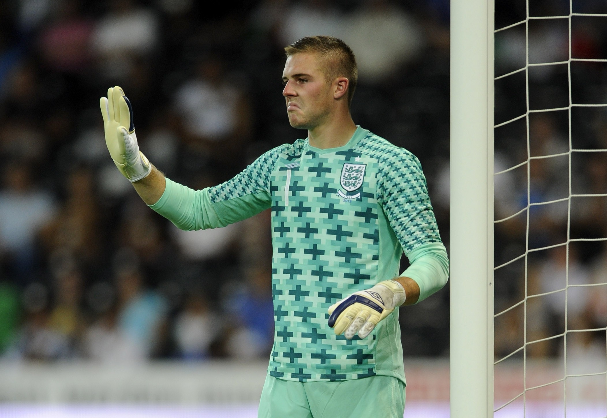 Jack Butland of England during the international friendly match