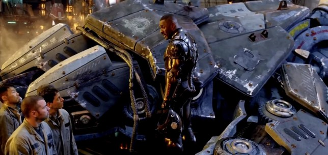 Luther star Idris Elba plays a commanding officer in Pacific Rim (Picture: YouTube)