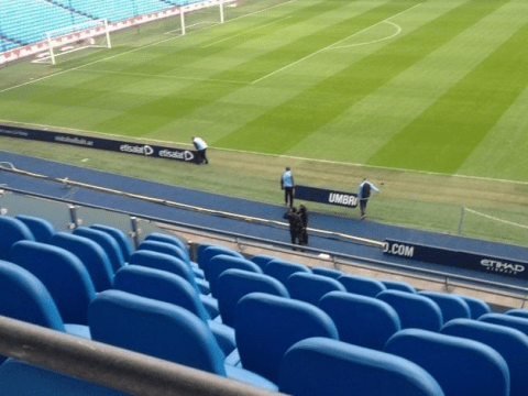 Manchester City move their advertising boards to help them beat Stoke