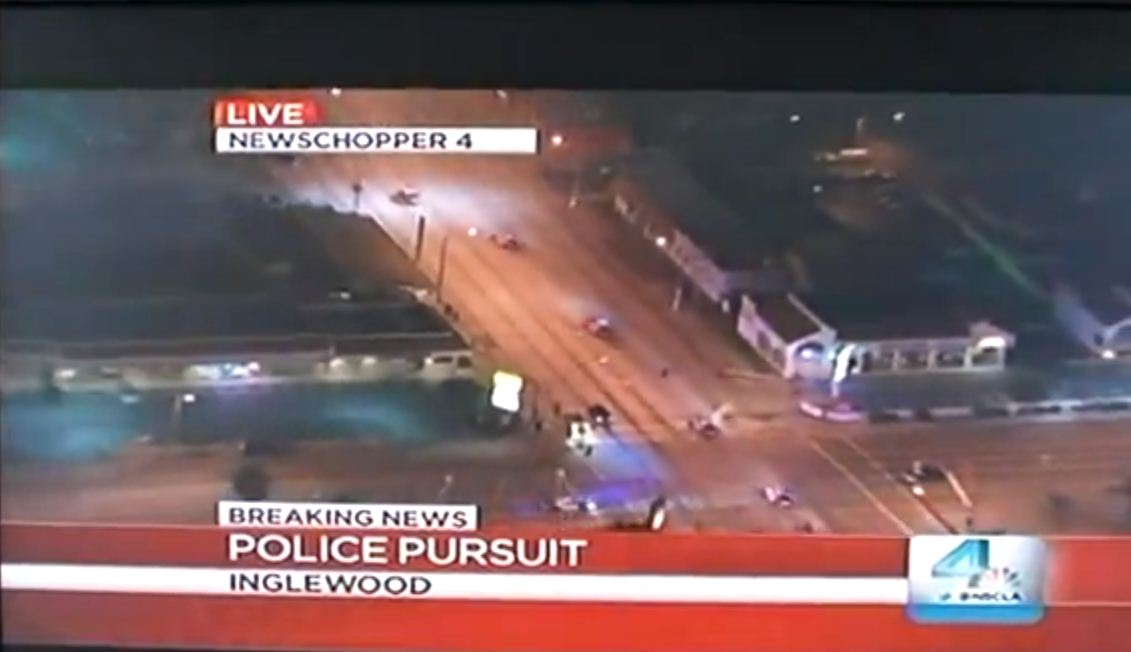 Inglewood police chase