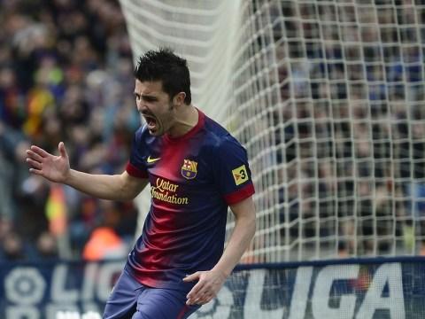 Arsenal on alert as Barcelona admit David Villa can leave club