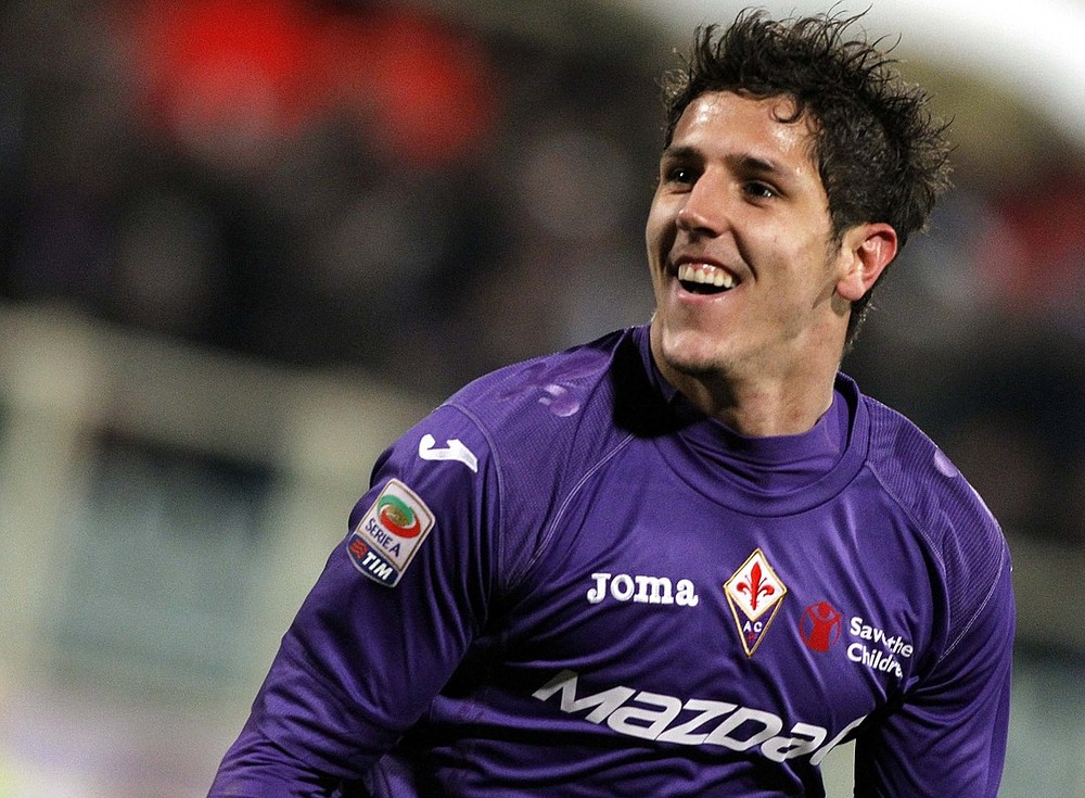 Key man: Fiorentina's Stevan Jovetic (Picture: AP)