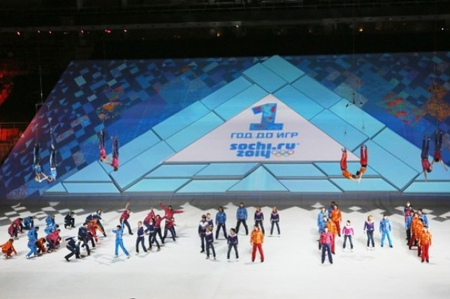 Sochi held a ceremony to celebrate one year until they host the Winter Olympics (Picture Getty)