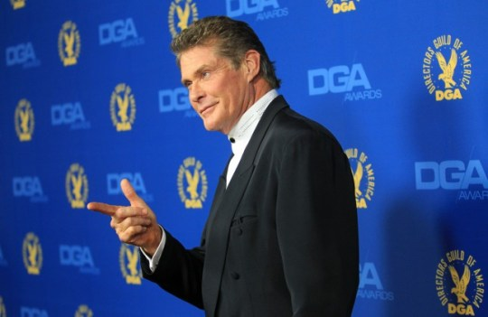 David Hasselhoff poses for pictures (Getty)