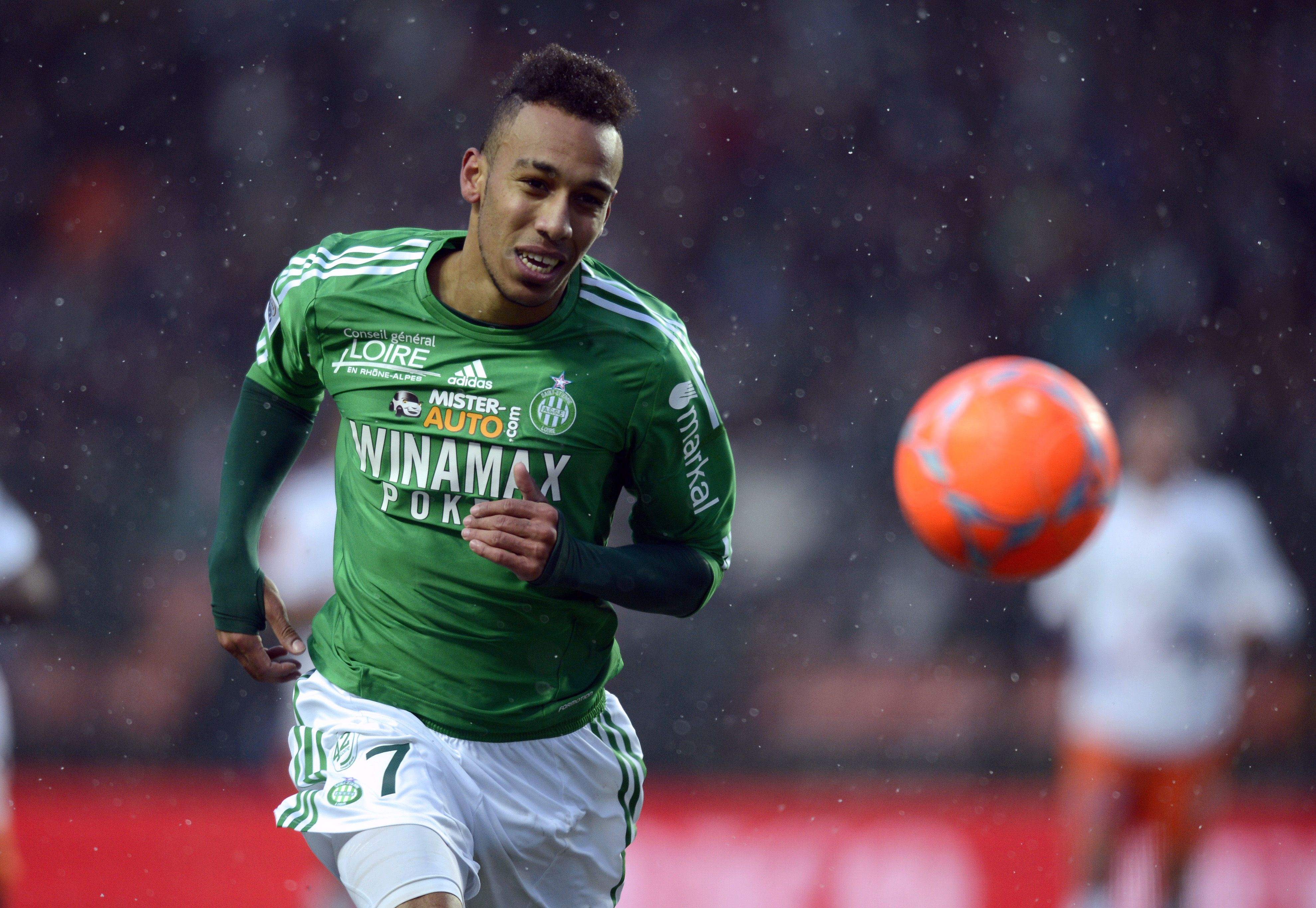 Saint-Etienne's Gabonese forward Pierre-