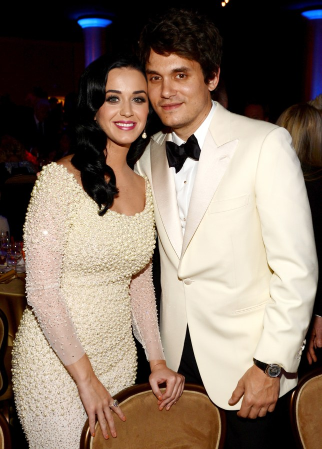 Katy Perry and John Mayer pose for pictures together