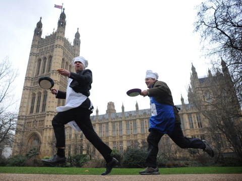 Gallery: The Parliamentary Pancake Race 2013