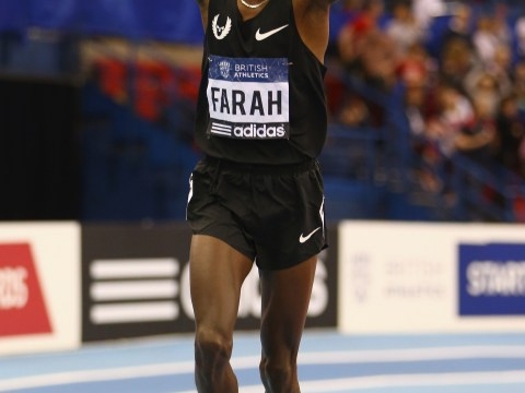 Gallery: Mo Farah at Athletics Grand Prix in Birmingham – 16 February 2013