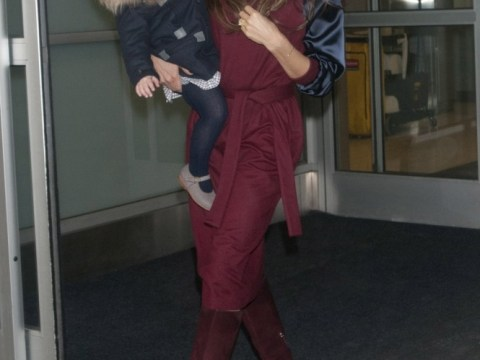 Harper Beckham looks every inch the style princess as she touches down for New York Fashion Week with Victoria