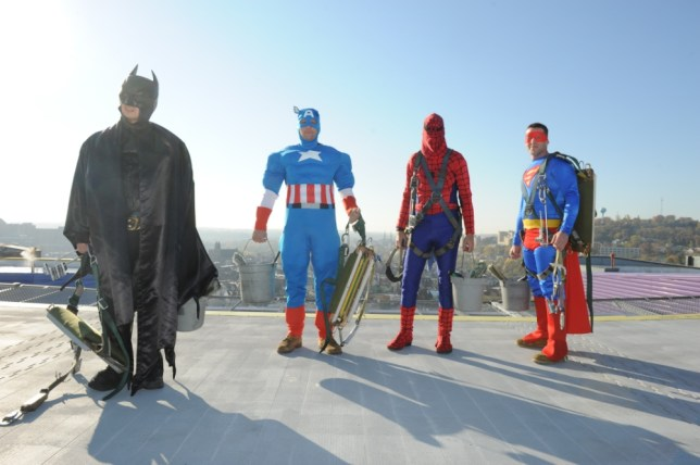 Superhero window cleaners