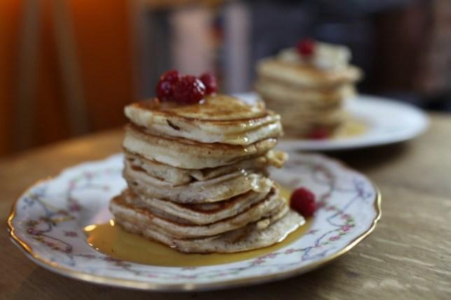 American pancake tower