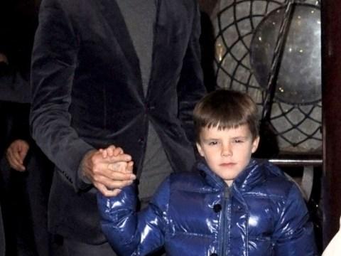 David Beckham treats Brooklyn, Romeo and Cruz to Mayfair dinner while Victoria Beckham is away
