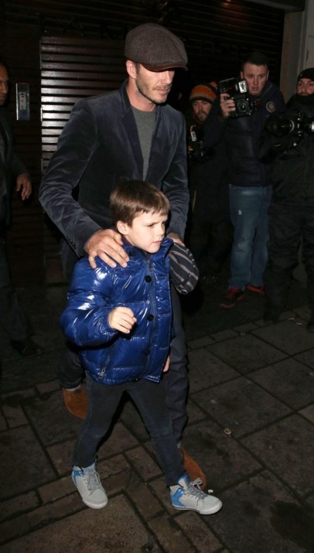 Beckham (Picture: Xposurephotos.com)