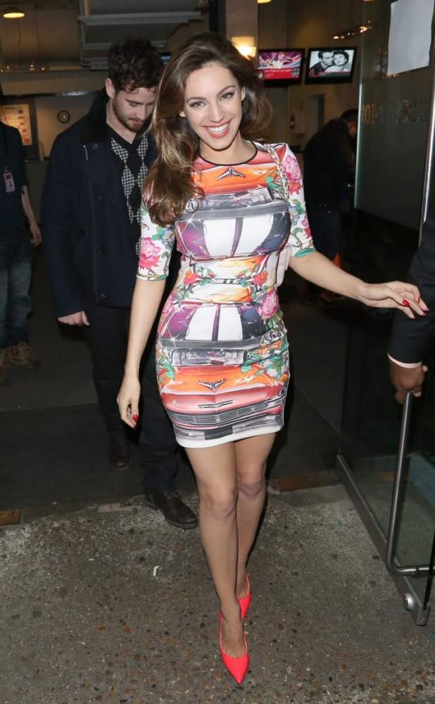 Kelly Brook wows with Danny Cipriani in tow as Celebrity Juice filming kicks off