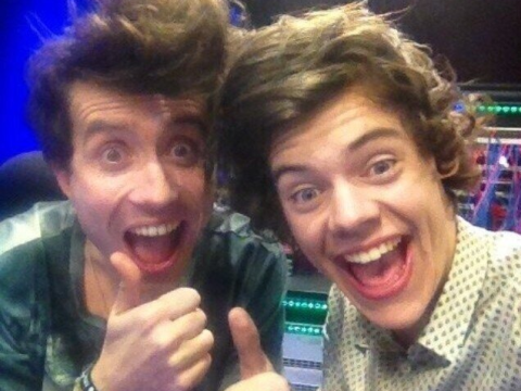 Harry Styles joins Nick Grimshaw on Radio 1 after Brits all-nighter