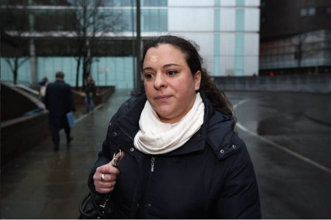 Georgia Beasley, the daughter of Chris Huhne and his ex-wife Vicky Pryce, leaves Southwark crown court
