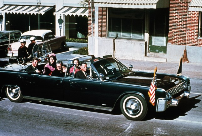 The Kennedy's tour through Dallas in 1963. A few stops later, JFK was shot and killed