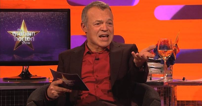 Graham Norton was as stunned as the audience by the kiss (Picture: BBC)