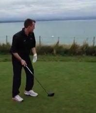 Graeme Swann sends the head of Stuart Broad's custom-made driver plummeting into the ocean