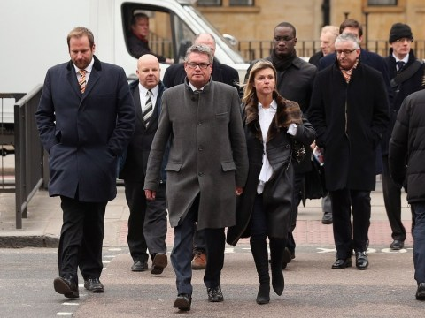 The Sun's deputy editor Geoff Webster backed by journalists as he appears at Westminster court over 'illicit payments'