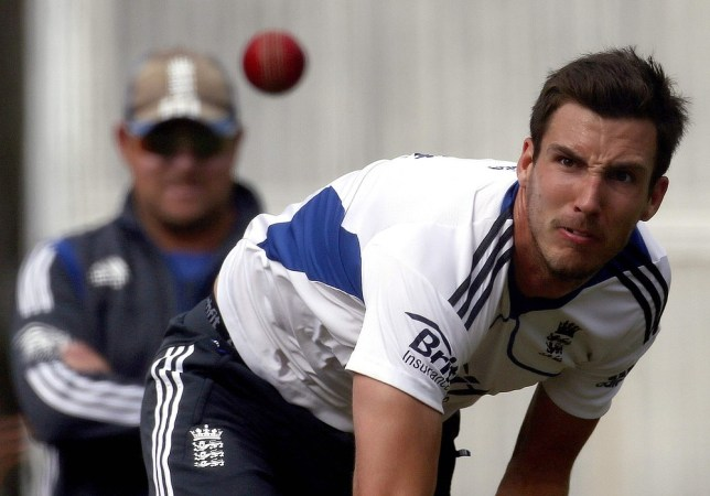 Steven Finn has been forced to adapt his delivery to avoid disturbing the stumps (Picture: Reuters)