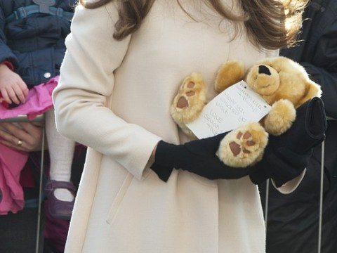 Pregnant Duchess gets another baby gift as Kate and Wills tour charity helping bereaved children