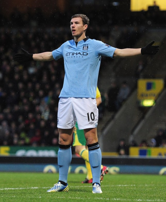 Edin Dzeko has struggled to hold his place in the Manchester City side (Picture: Getty)