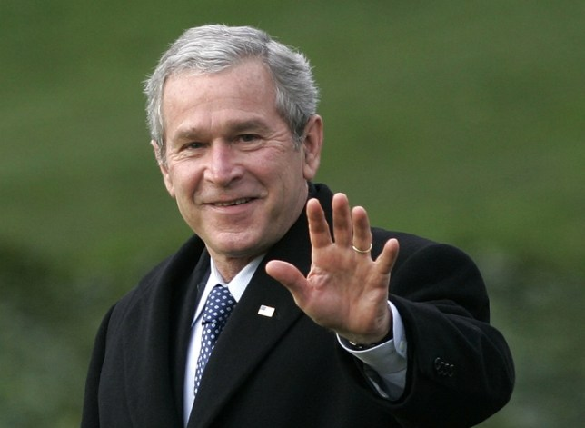 Plane carrying George W Bush makes emergency stop after pilot smells smoke