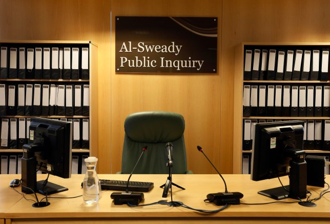 The venue of the Al-Sweady Inquiry is seen on the first day of the inquiry, in central London