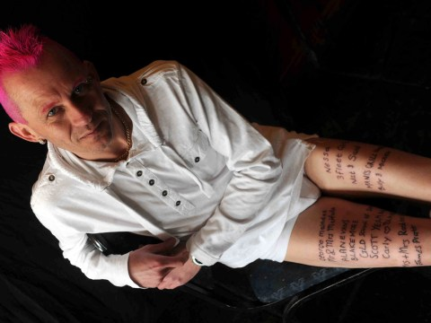 Ink-credible DJ gets 14 names tattooed on his legs to raise £165 for charity